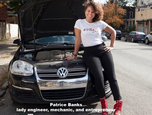 Patrice Banks in front of a VW | www.imjussayin.com