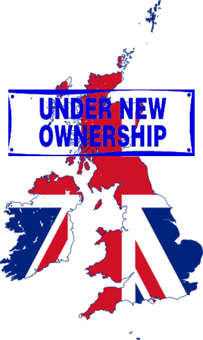 nationalisation map of britain with under new ownership sign