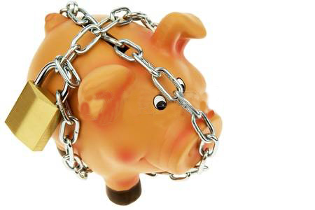 austerity piggybank with chain around it | www.imjussayin.com