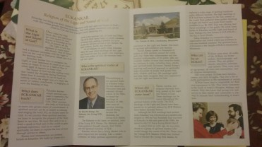 Notice Harold Klemp's pic is in every brochure