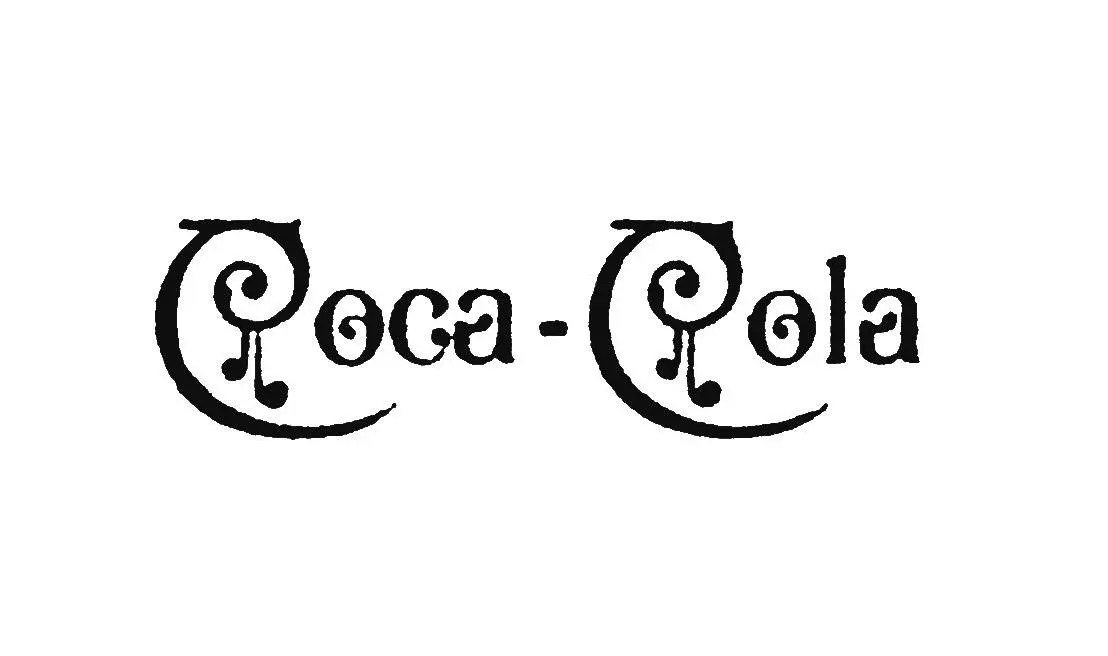 Genuinely Historic Vintage Coca-Cola Logo from 1890