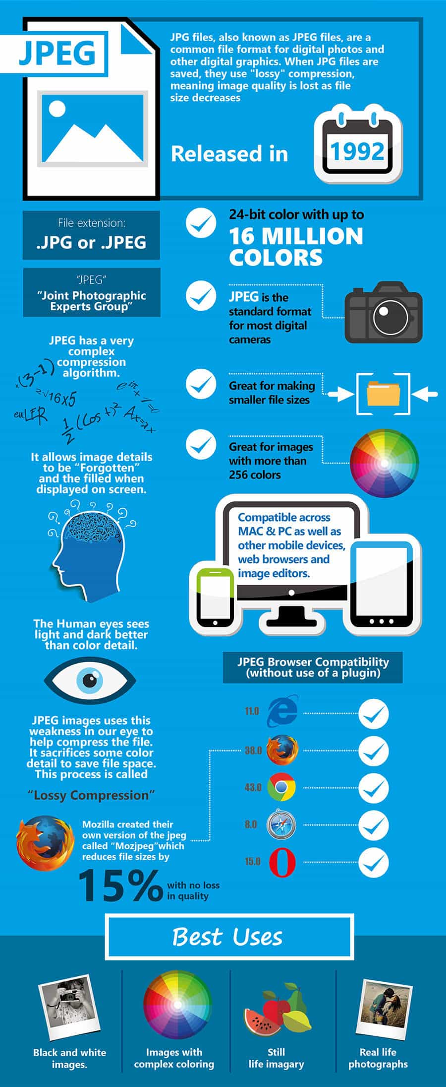 Know Your Image Formats  Mega Cheat Sheet Infographic