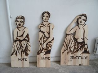 Finished: Three Young Muses (Hope, Love and Gratitude)