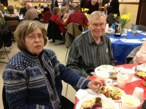 Cy and Bob Linsted 2013 smorgasbord