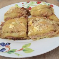 Parmigiana di melanzane bianca senza uova e senza latte