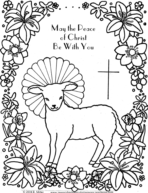 Lamb of God Easter Coloring Page