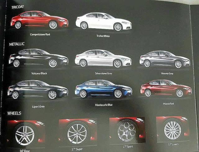 Alfa Romeo Giulia la brochure