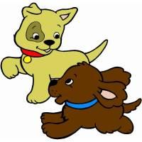 Disegno di Cuccioli di Cane a colori per bambini ...