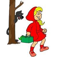 Disegno di Cappuccetto Rosso a colori per bambini ...