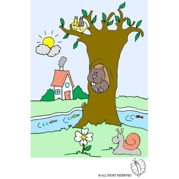 Disegno di Paesaggio Naturale a colori per bambini  disegnidacolorareonlinecom