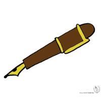 Disegno di Penna Stilografica a colori per bambini