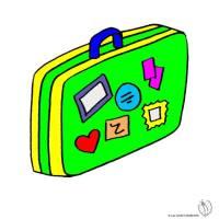 Disegno di Valigia a colori per bambini ...