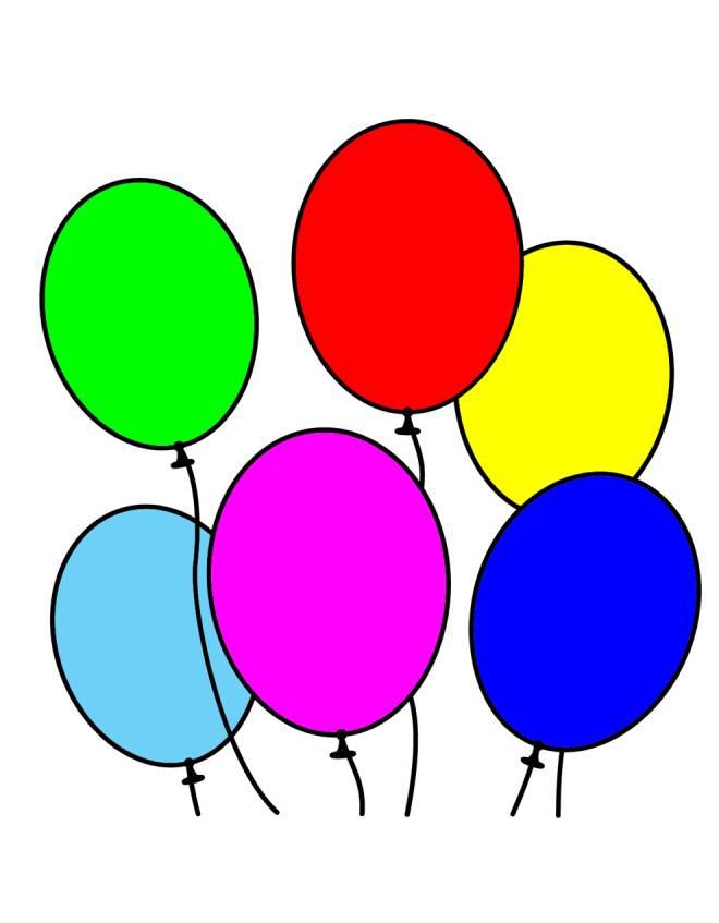 Disegno di Palloncini a colori per bambini