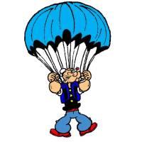 Disegno di Braccio di Ferro col Paracadute a colori per ...