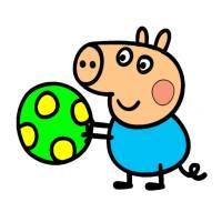 George Di Peppa Pig Da Colorare George