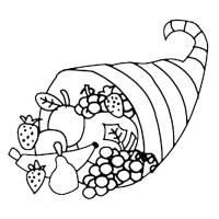Disegno di Cesto di Frutta da colorare per bambini