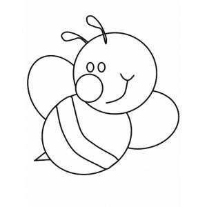 Disegno Di Ape Da Colorare Per Bambini Gratis