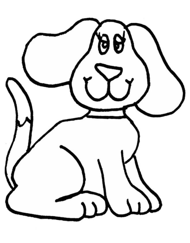 Disegni Da Stampare E Colorare Animali Cagnolina Cane Da Colorare