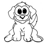 Disegno di Cagnolino da colorare per bambini gratis