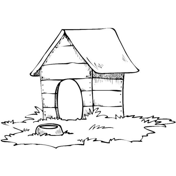 Disegno Di Casa Del Cane Da Colorare Per Bambini
