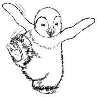 Disegno di Happy Feet da colorare per bambini ...