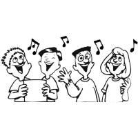 Disegni Di Bambini Che Cantano In Coro Da Colorare