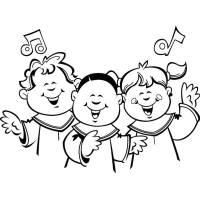 Disegno di Coro di Bambini da colorare per bambini