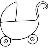 Disegno di Carrozzina da colorare per bambini ...