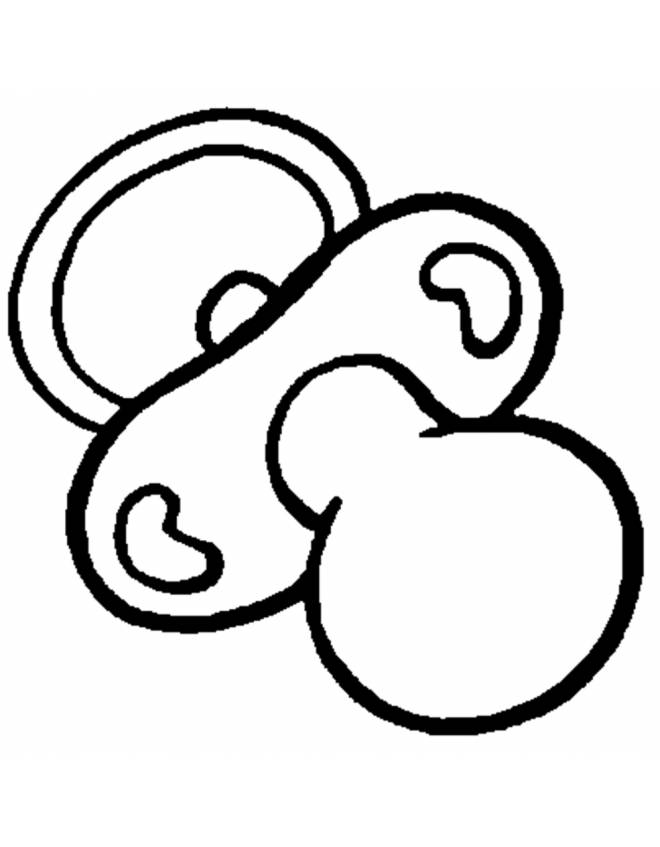 Pacifier Tattoos Coloring Pages