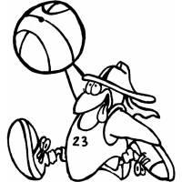 Disegno di Basket Cartone Animato da colorare per bambini ...