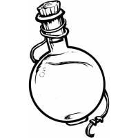 Disegno di Ampolla con Liquido Magico da colorare per ...
