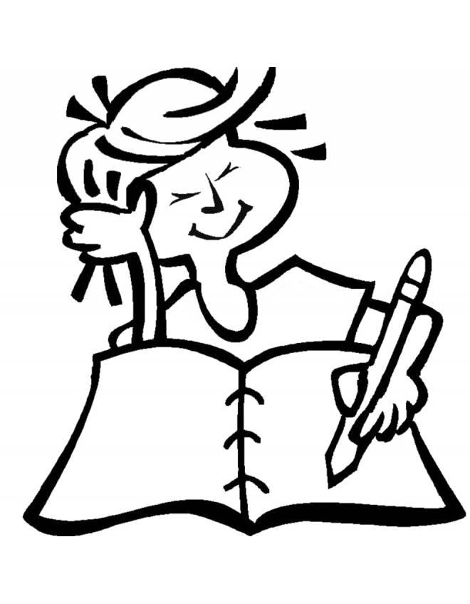 Disegno Di Bambina Che Scrive
