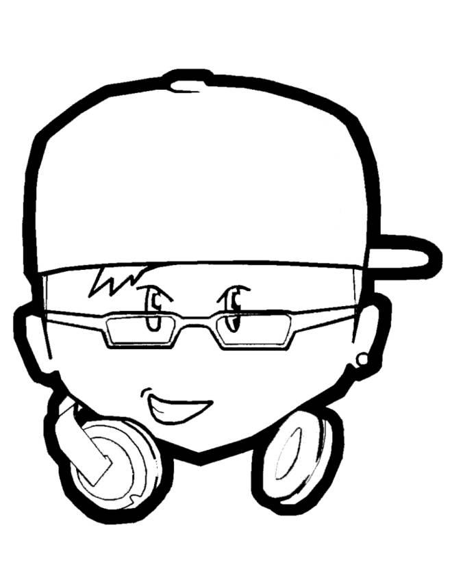 Disegno di Il DJ da colorare per bambini