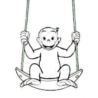 Stampa Disegno Di Scimmietta George A Colori