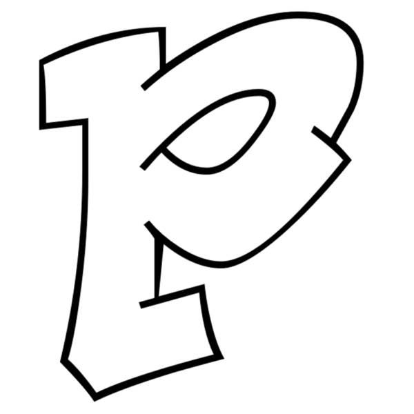 Disegno Di Lettera P Da Colorare Per Bambini