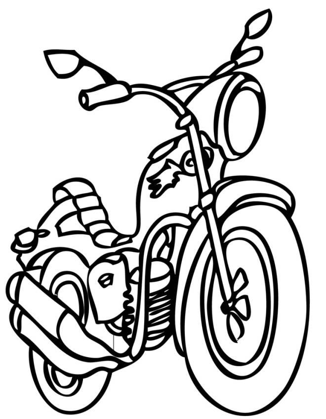 Stampa Disegno Di Motocross Da Colorare