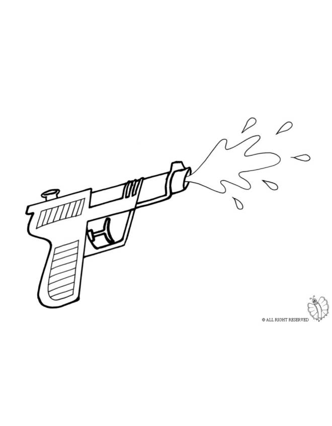 Disegno di Pistola ad Acqua da colorare per bambini