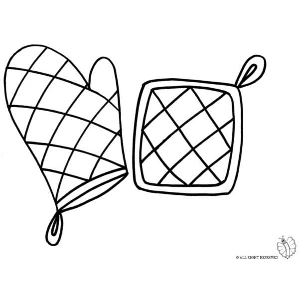 Disegno di Presine da Cucina da colorare per bambini  disegnidacolorareonlinecom