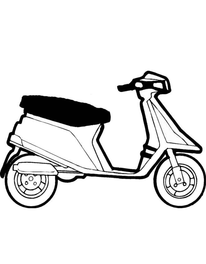 Disegno Di Scooter Da Colorare Per Bambini