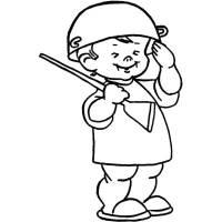 Disegno di Soldatino da colorare per bambini ...
