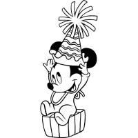 Disegni Da Colorare Topolino Baby Disegno Di Minnie E Topolino