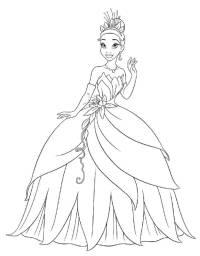 Disegno di La Principessa Tiana da colorare per bambini ...