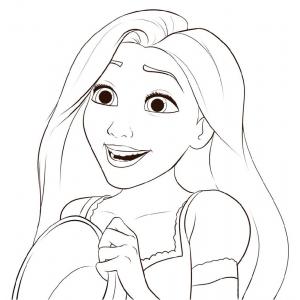 Disegno di Principessa Rapunzel da colorare per bambini