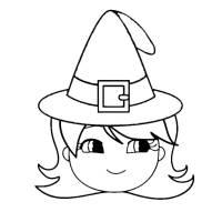 Disegno di Cappello di Halloween da colorare per bambini ...