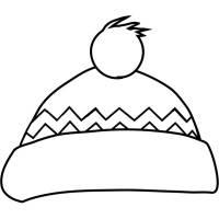Disegno di Cappello Natalizio da colorare per bambini ...