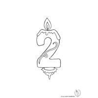 Disegno di Due Anni Candeline Compleanno da colorare per ...