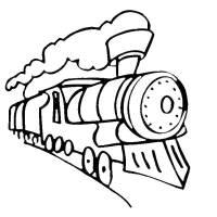 Disegno di Treno da colorare per bambini ...