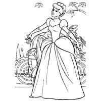 Disegno di Cenerentola e la Carrozza da colorare per ...