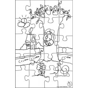 Disegno di Puzzle di Paesaggio Naturale da colorare per bambini gratis  disegnidacolorareonlinecom