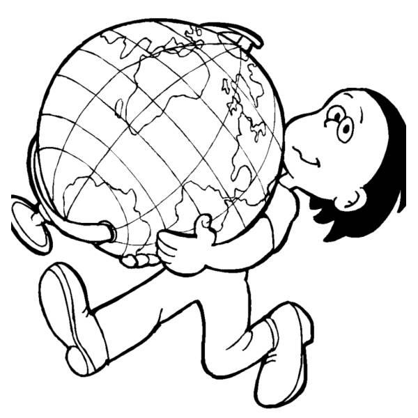 Stampa Disegno Di Cartina Politica Mondo Da Colorare